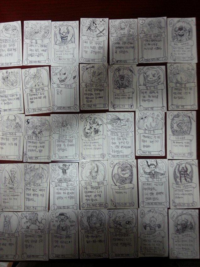 Кореец нарисовал все карты Hearthstone во время службы в армии - Изображение 3