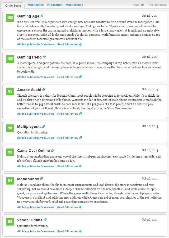 Оценки самой главной игры Xbox One! Halo 5: Guardians!  - Изображение 2