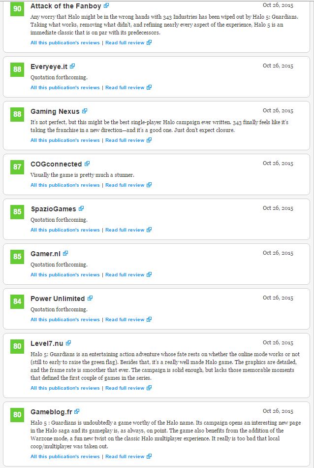 Оценки самой главной игры Xbox One! Halo 5: Guardians!  - Изображение 4