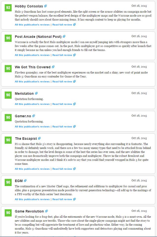 Оценки самой главной игры Xbox One! Halo 5: Guardians!  - Изображение 3