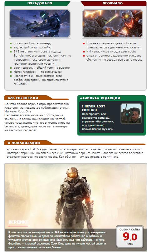 Оценки самой главной игры Xbox One! Halo 5: Guardians!  - Изображение 8