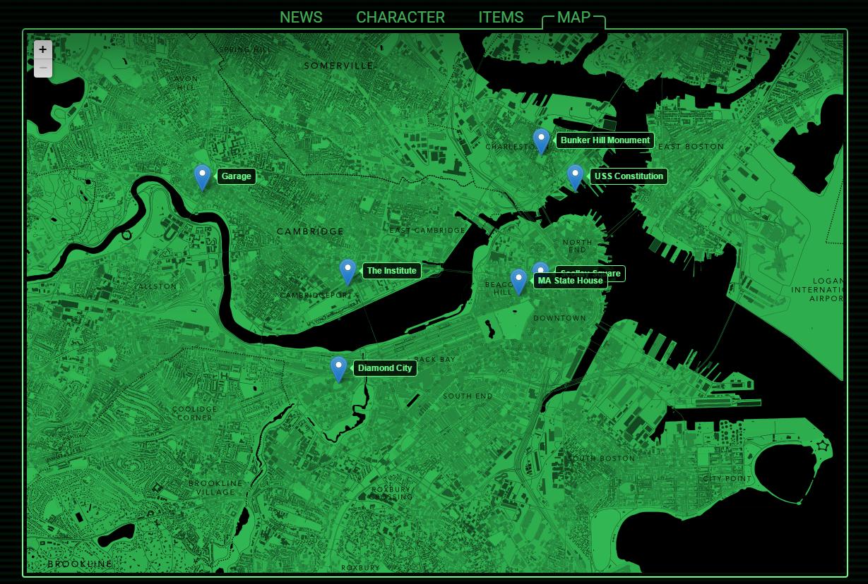 А вот и карта игрового мира Fallout 4. Несколько великовата, вам не кажется? Да она просто огромна!. - Изображение 3