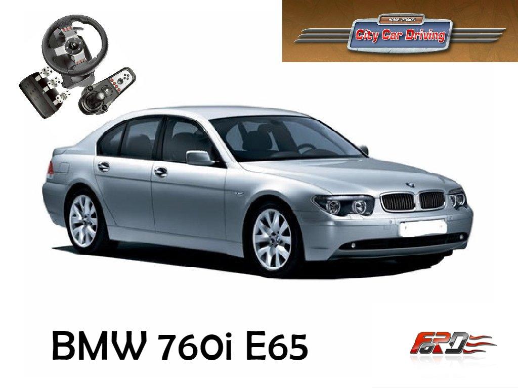[ BMW 760i E65 ] тест-драйв, обзор автомобиль премиум класса в City Car Driving  - Изображение 1