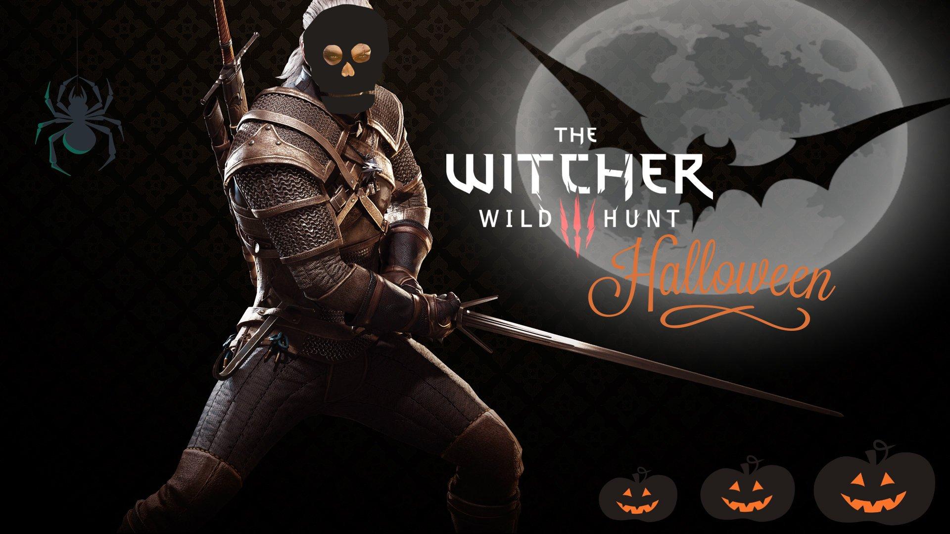 Хэллоуин вместе с Геральтом!    Обои по Ведьмаку к Хэллоуину.    #RВедьмак #Хэллоуин  - Изображение 1