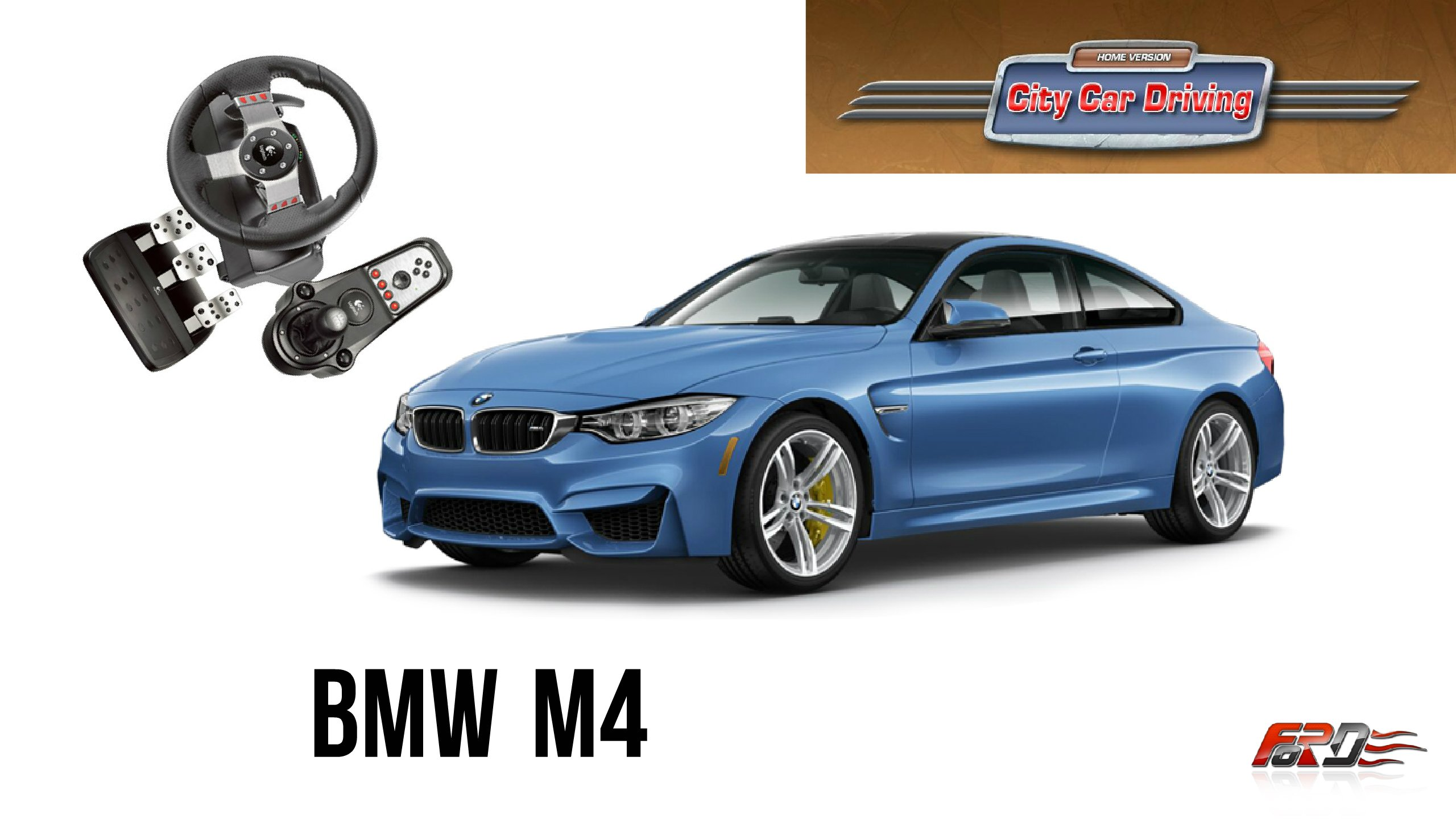 BMW M4 тест-драйв, обзор спортивного купе, шашки на автостраде в City Car Driving!  - Изображение 1