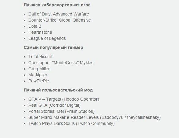 Озвучен список номинантов на премию Game Awards 2015 - Изображение 6