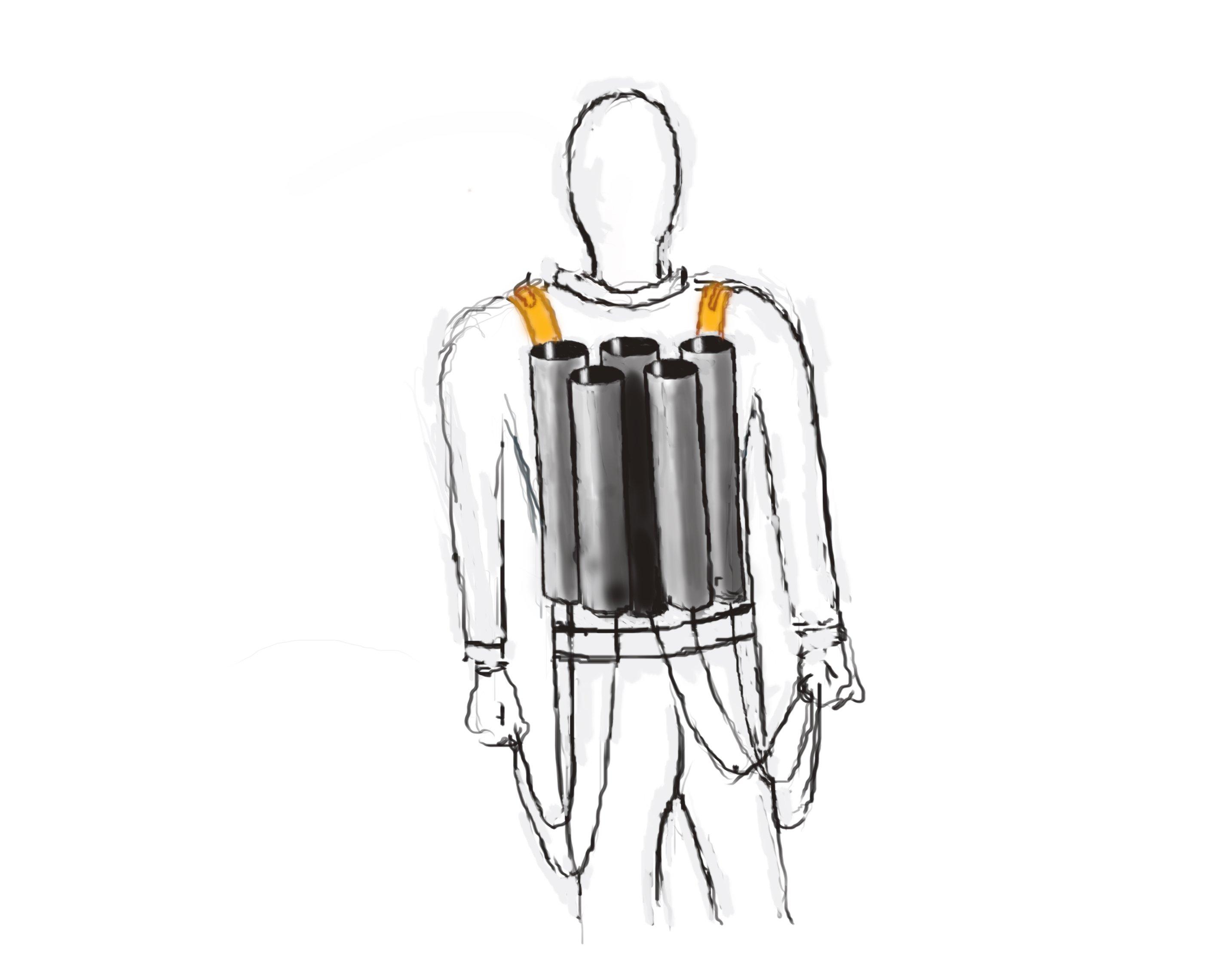 Миномётная установка за спиной - Изображение 1