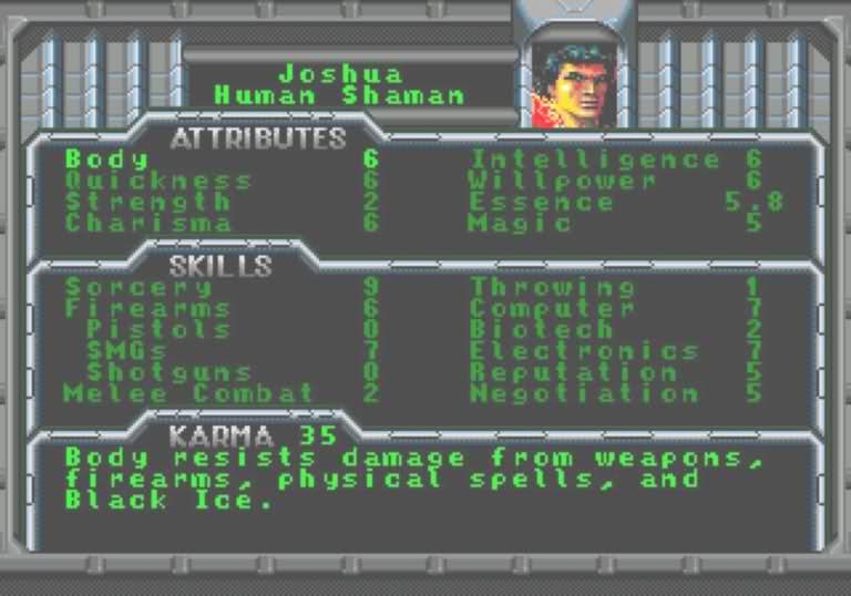 Большая игра Shadowrun (SEGA, 1994) - Изображение 4