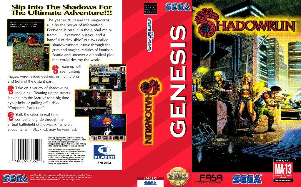 Большая игра Shadowrun (SEGA, 1994) - Изображение 2