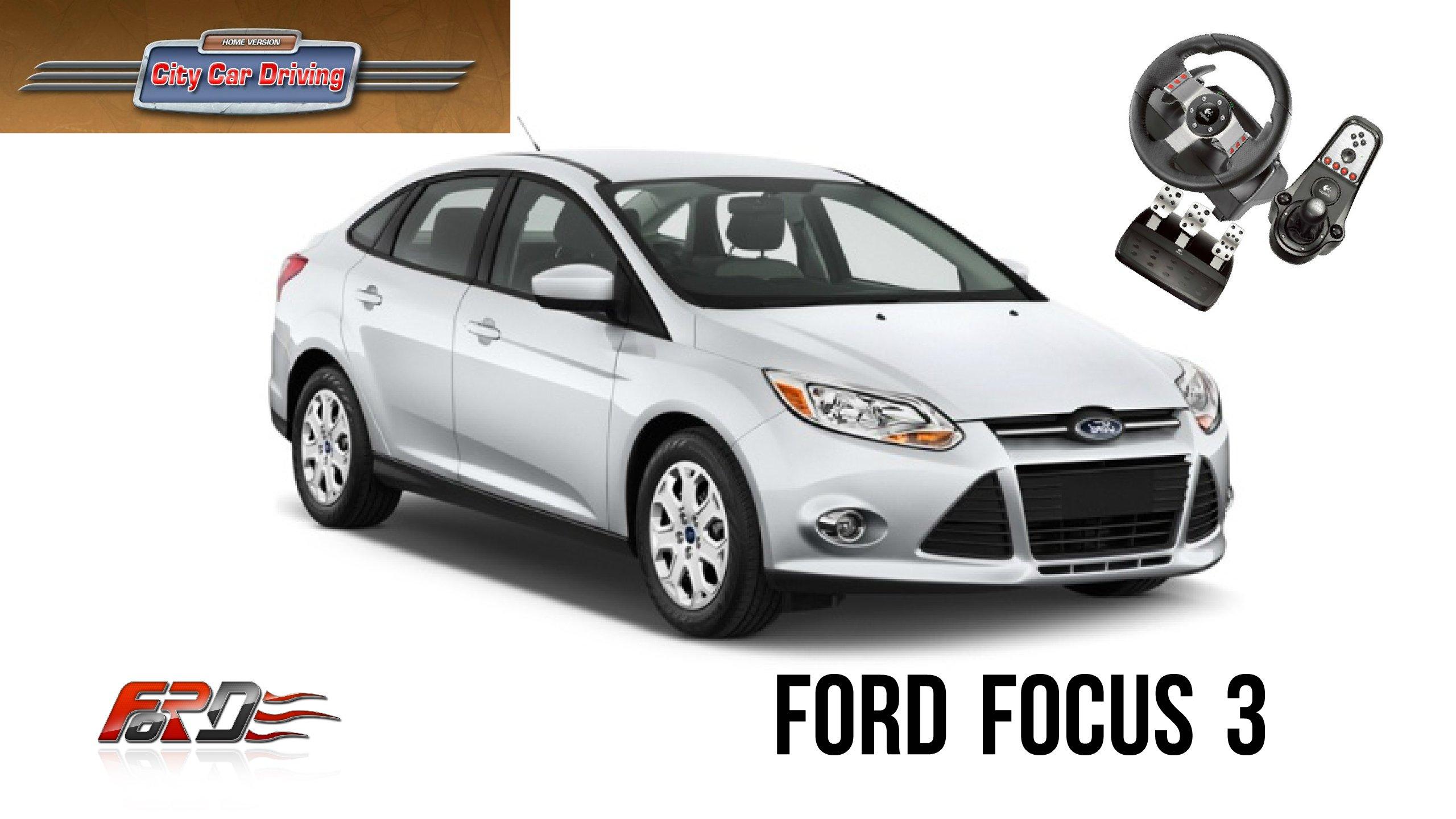 Ford Focus 3 тест-драйв, обзор в дождливую погоду утром City Car Driving  - Изображение 1