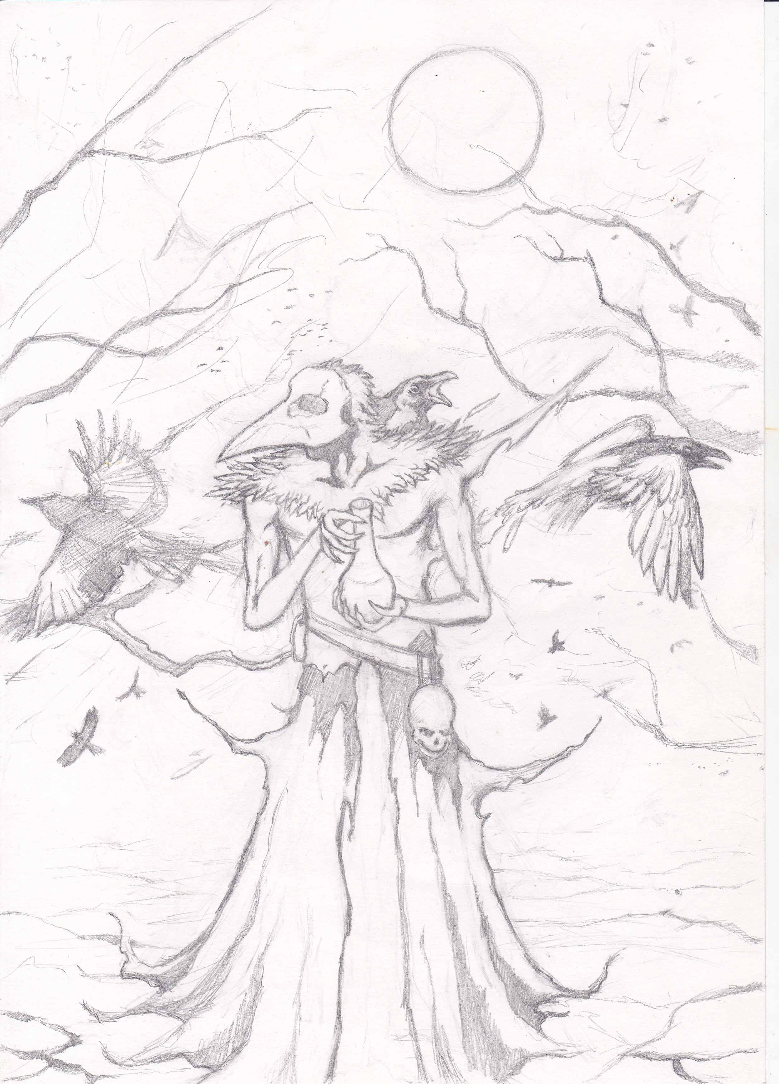 Мрачное настроение, делаю зарисовки - Изображение 1