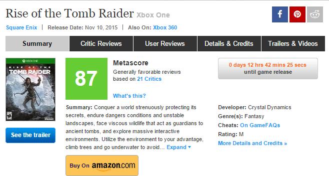 Первые оценки Rise of the Tomb Raider - Изображение 1