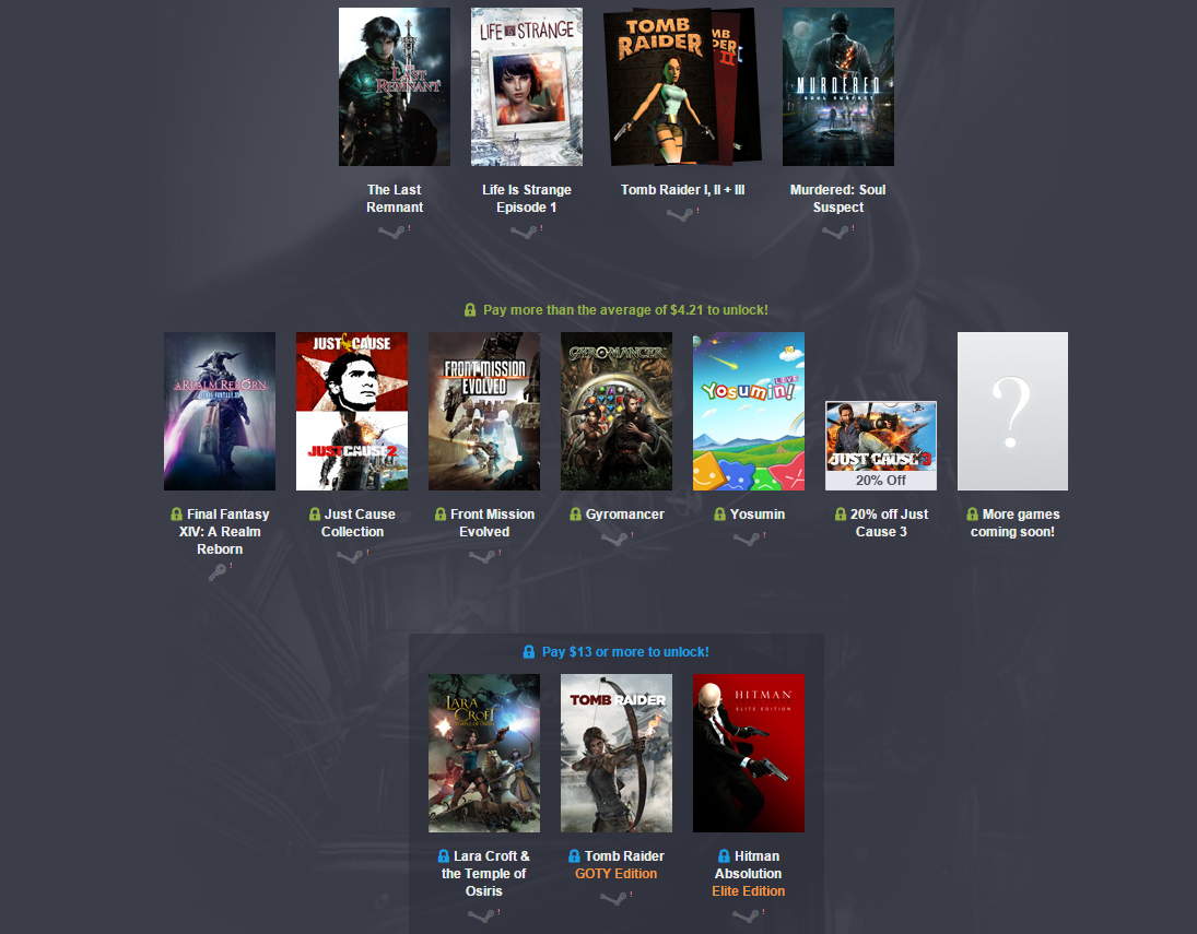 Humble Square Enix Bundle 3. - Изображение 1
