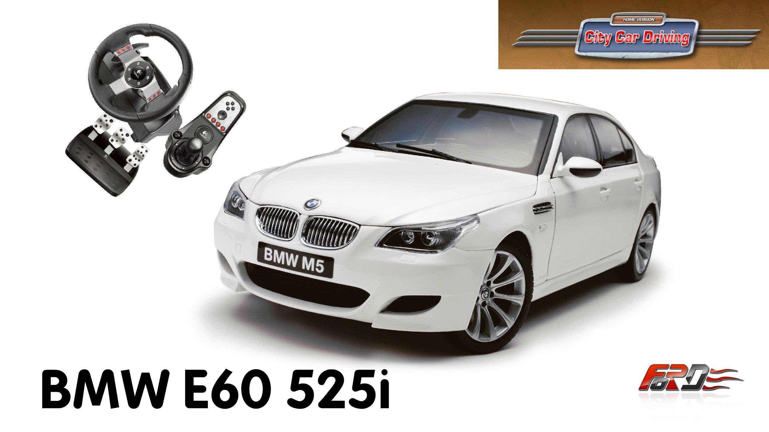 BMW 5 Series E60 525i - тест-драйв, обзор автомобиля бизнес класса в City Car Driving  - Изображение 1