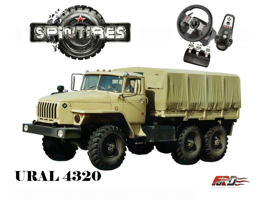 [ SpinTires 2015 ] УРАЛ 4320 - обзор советских грузовых автомобилей внедорожников руль Logitech G27  - Изображение 1