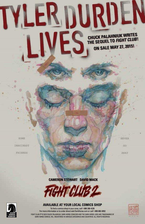 Dark Horse Comics показали обложку первого выпуска Fight Club 2.  - Изображение 1