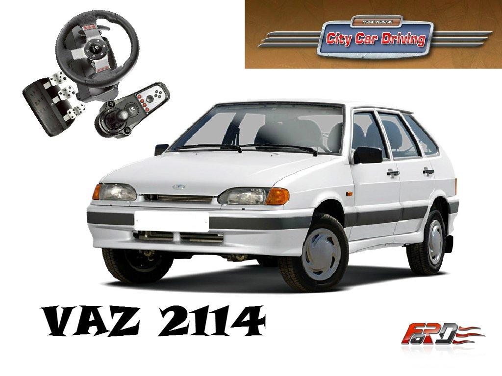 [ City Car Driving ] ВАЗ 2114 и Lada Granta - тест-драйв, обзор русских автомобилей Logitech G27  - Изображение 1