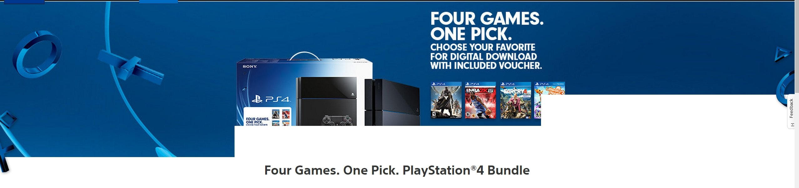 Царский бандлище PS 4 ! Целых 4 игры в нагрузку к консоли и всего за 399 баксов ! - Изображение 1