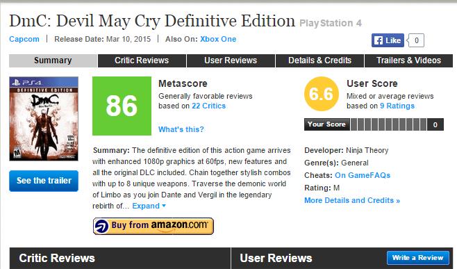 DmC: Devil May Cry Definitive Edition - первые оценки проекта - Изображение 1