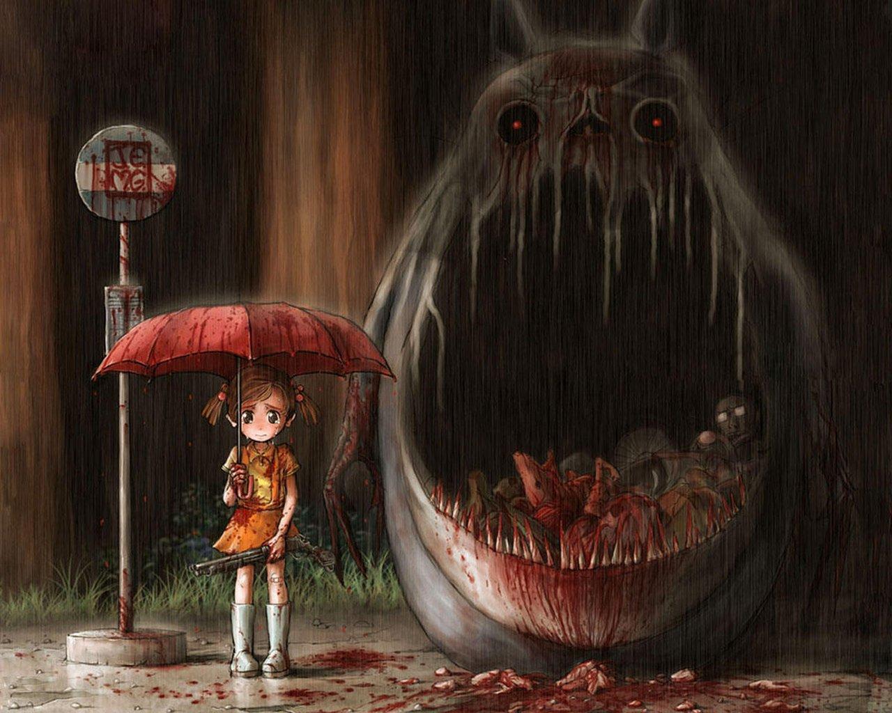 картинки ужастики аниме: