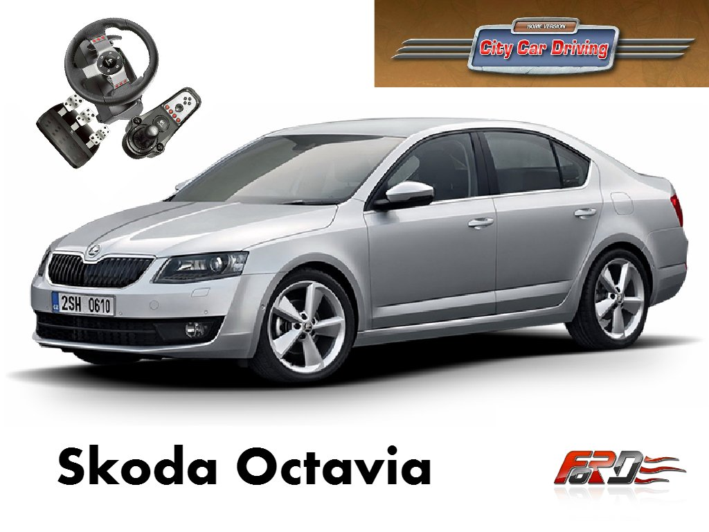 [ City Car Driving ] Skoda Octavia A7 и Renault Megane 3 тест-драйв, обзор автомобилей, машин  - Изображение 1