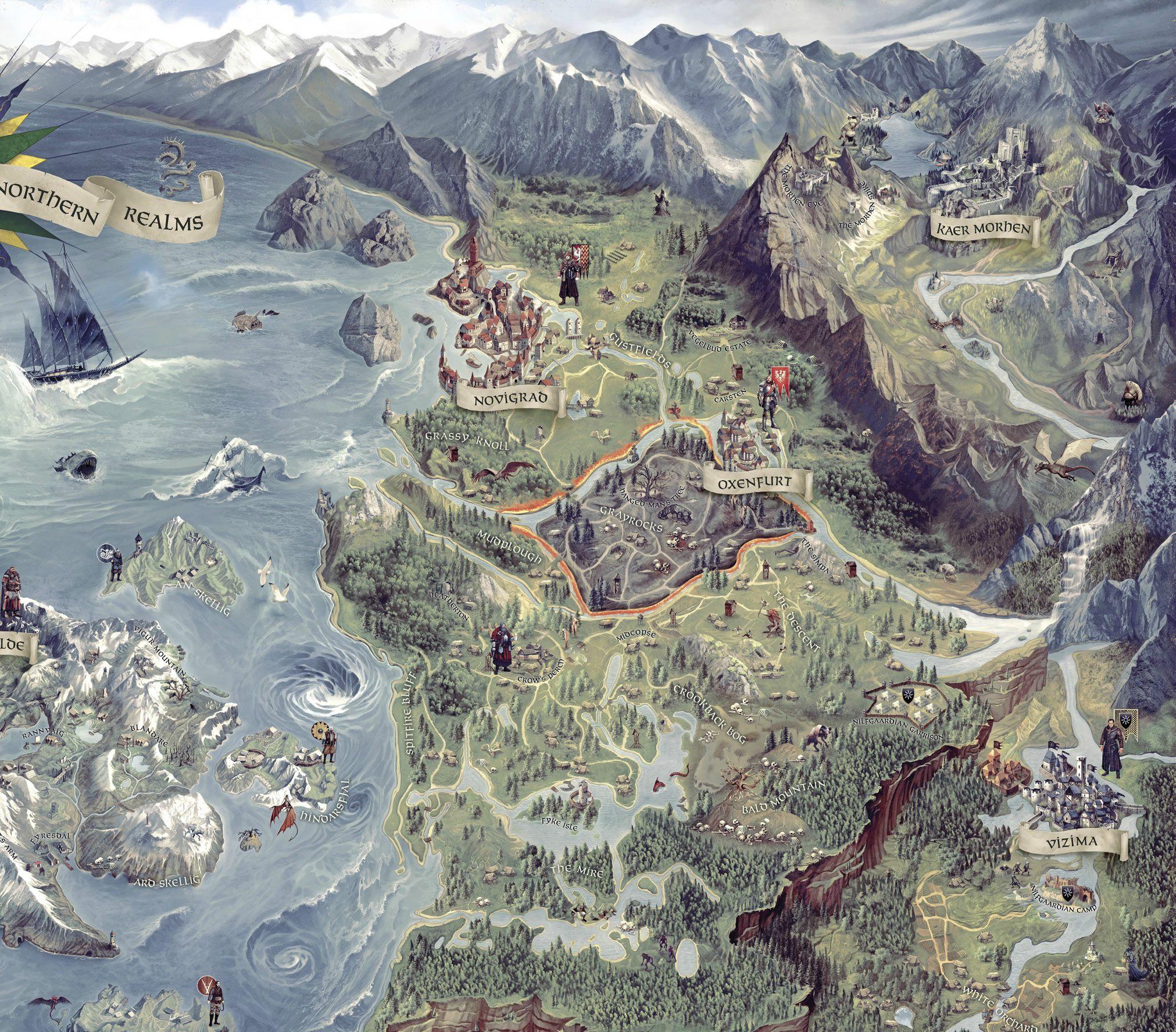 Карта Ведьмак 3 - Изображение 1