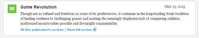 Bloodborne (93) - плюсы и минусы отмеченные журналистами, а также оценки Metacritic  - Изображение 6