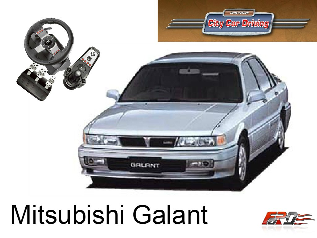 [ City Car Driving ] Mitsubishi Galant и Alfa Romeo 155 тест-драйв, обзор автомобилей девяностых  - Изображение 1