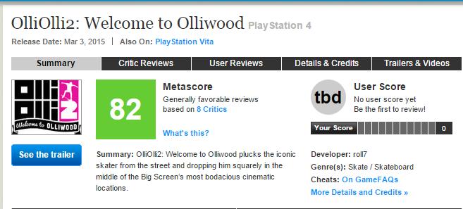 OlliOlli 2: Welcome to Olliwood - первые оценки эксклюзива Playstation, пользователям PS+ на халяву! - Изображение 1