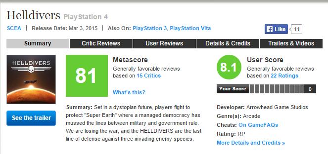 Helldivers - первые оценки эксклюзива Playstation (82) - Изображение 1