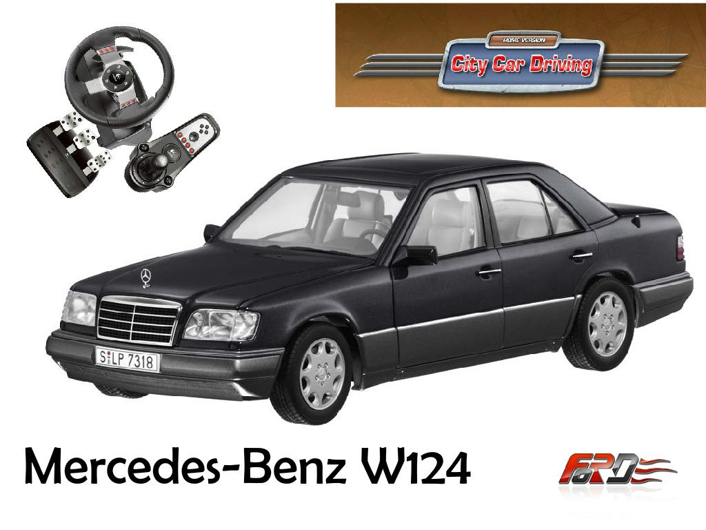 "[ City Car Driving ] обзор, тест-драйв Mercedes Benz E320 W124 и BMW 750iL E38 ""Бумер""  - Изображение 1"