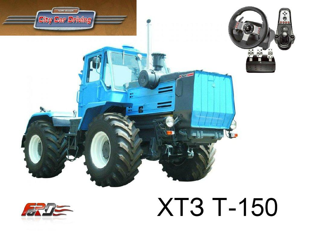 City Car Driving трактор ХТЗ Т-150 тест-драйв, обзор трактора, сельскохозяйственной техники  - Изображение 1