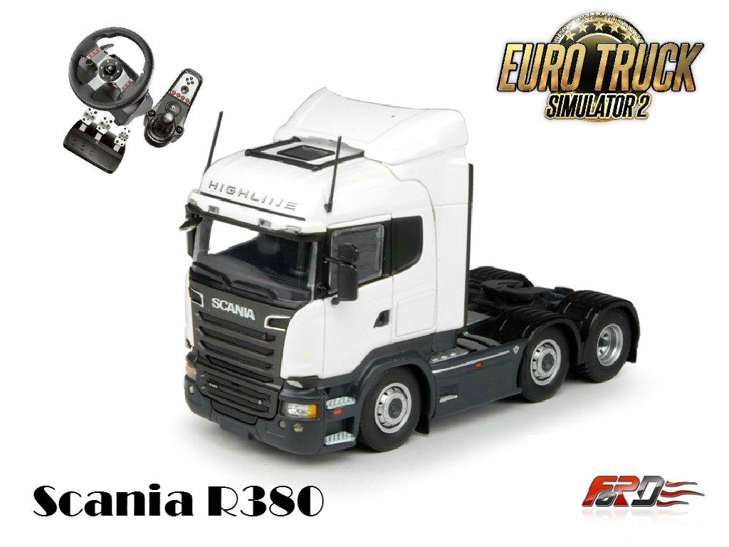 [ Euro Truck Simulator 2 ] катаюсь, делаю тест-драйв Scania R380 за рулем Logitech G27  - Изображение 1