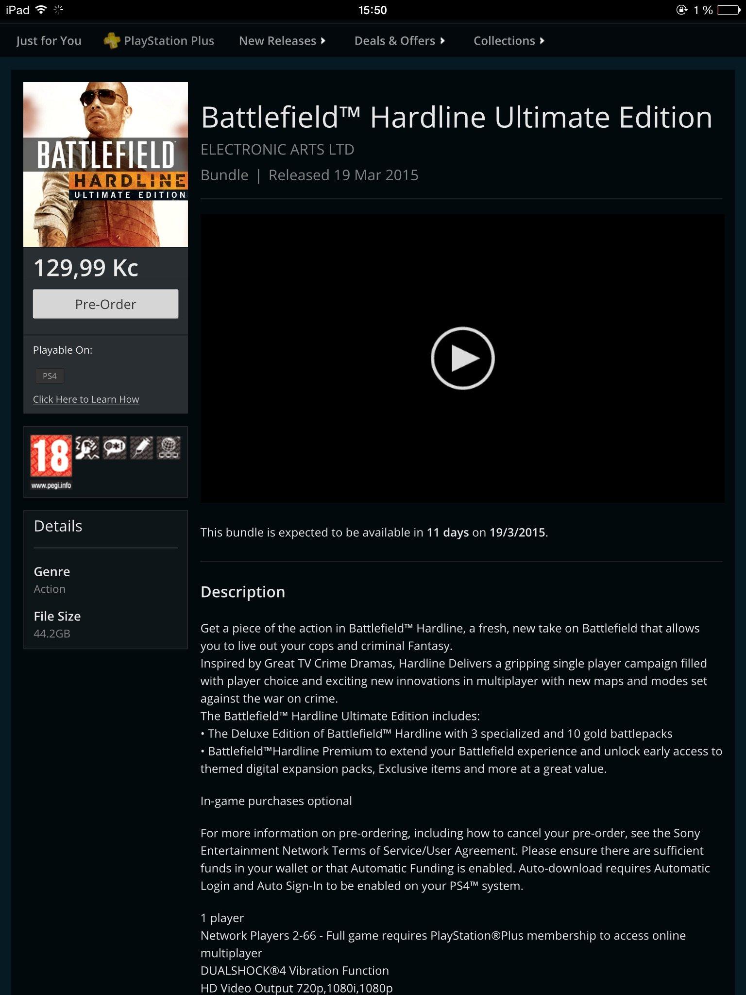 Кому Battlefield™ Hardline Ultimate Edition за 300 рублей? - Изображение 1