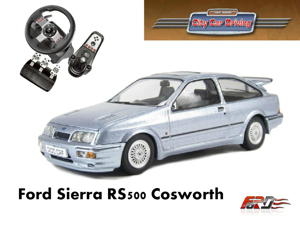 City Car Driving Ford Sierra RS 500 Cosworth тест-драйв, обзор, дрифт (drift) автомобиля, машины  - Изображение 1