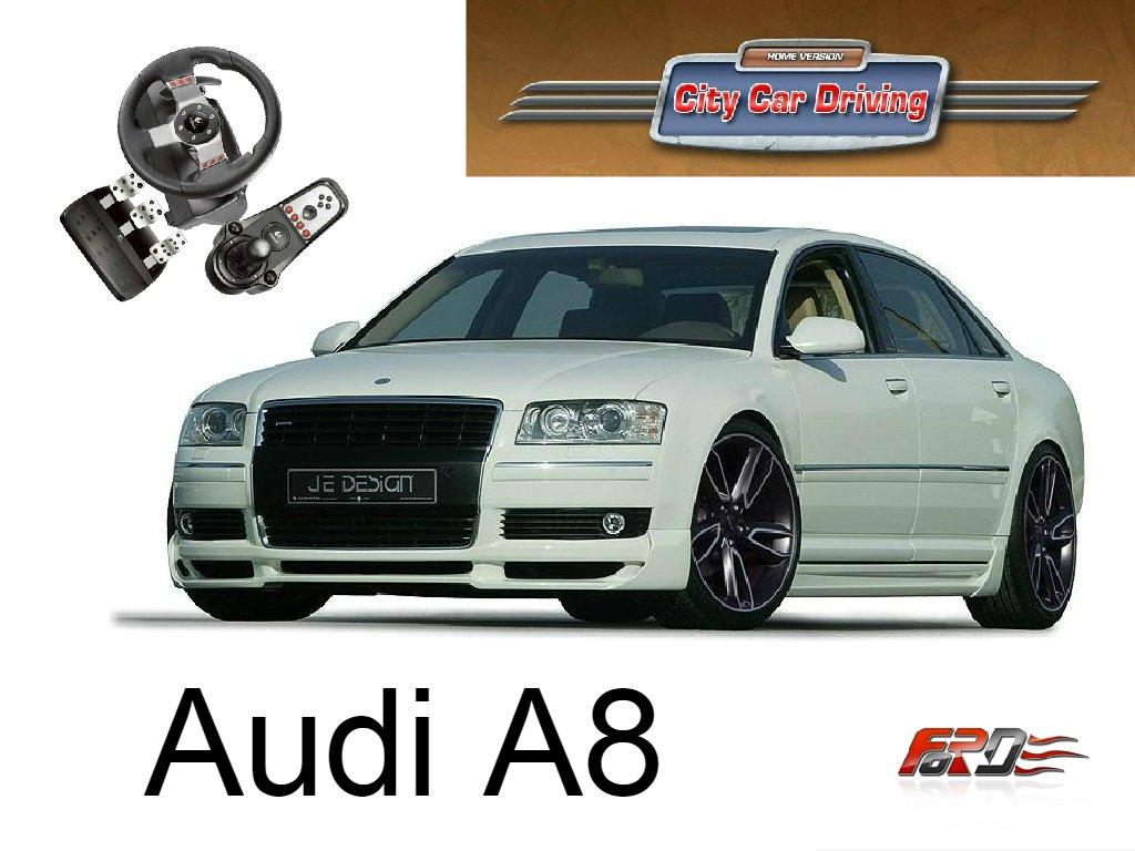 City Car Driving Audi A8 W12 vs Audi S8 тест-драйв, обзор автомобилей представительского класса  - Изображение 1