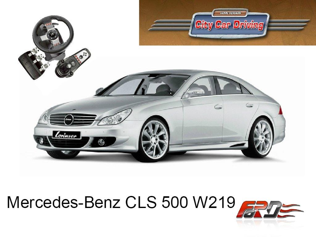 City Car Driving Mercedes-Benz CLS 500 W219 тест-драйв, обзор спортивных автомобилей G27  - Изображение 1