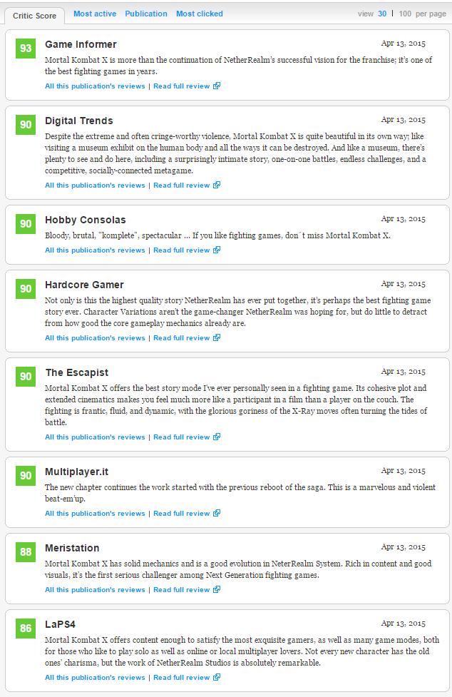 Первые оценки Mortal Kombat X (84) Главный релиз апреля ! - Изображение 2