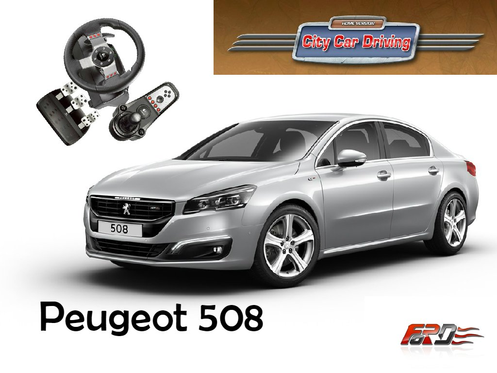 [ City Car Driving ] Peugeot 508 (Пежо 508) тест-драйв, обзор автомобиля, динамика, управление  - Изображение 1