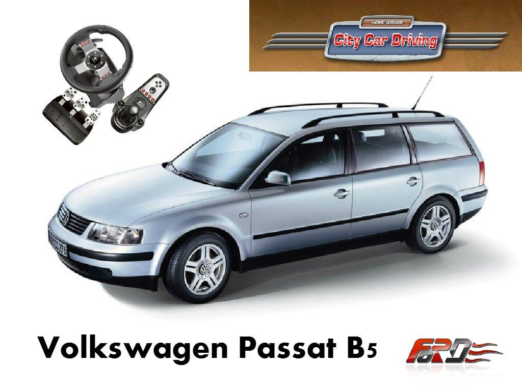 [ City Car Driving ] Volkswagen Passat B5 тест-драйв, обзор автомобилей, разгон замеры RACELOGIC  - Изображение 1