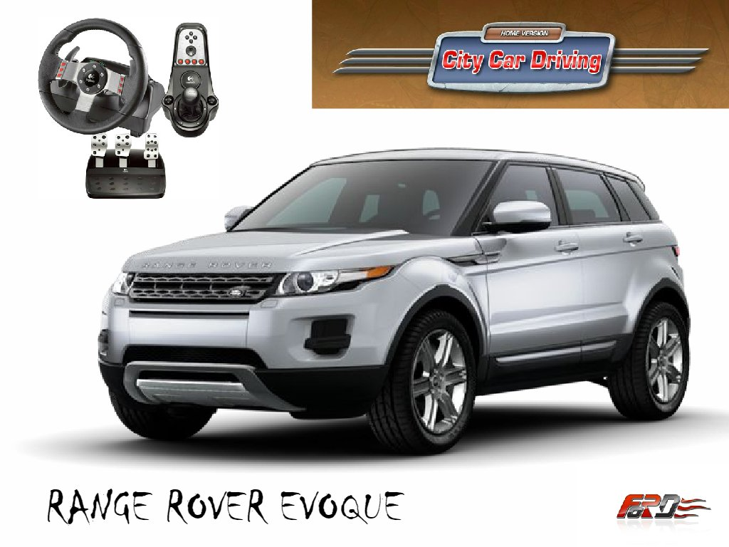 City Car Driving Range Rover Evoque тест-драйв, обзор, замер разгона Racelogic Logitech G27  - Изображение 1