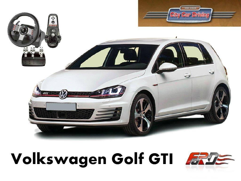 City Car Driving Volkswagen Golf GTI тест-драйв, обзор автомобилей, динамика Racelogic Logitech G27  - Изображение 1