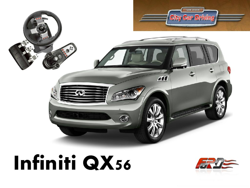 City Car Driving Infiniti QX56(QX80) тест-драйв, обзор автомобилей, внедорожников, off-road G27  - Изображение 1