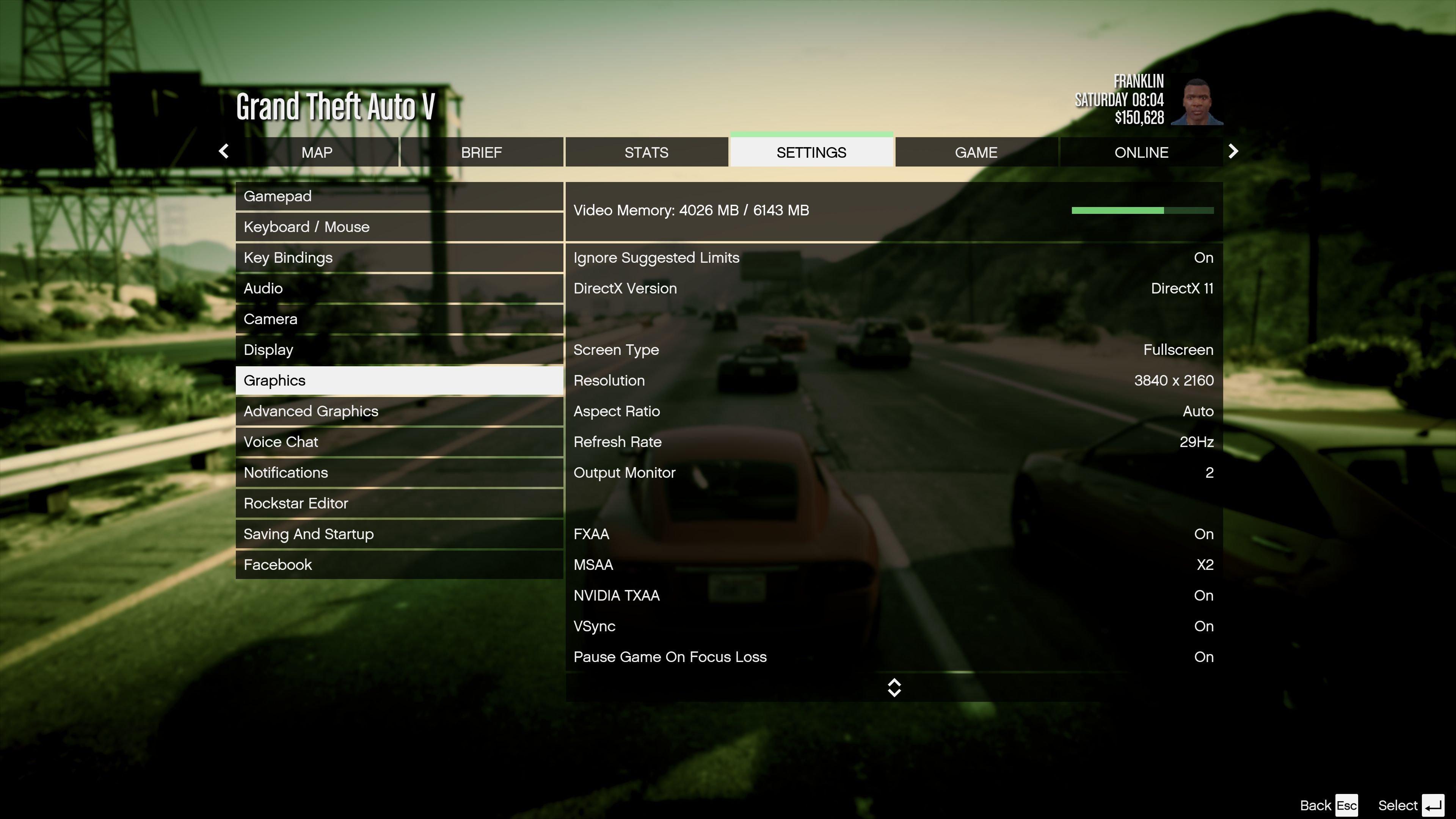 Меню настроек графики PC-версии GTA 5 - Изображение 1