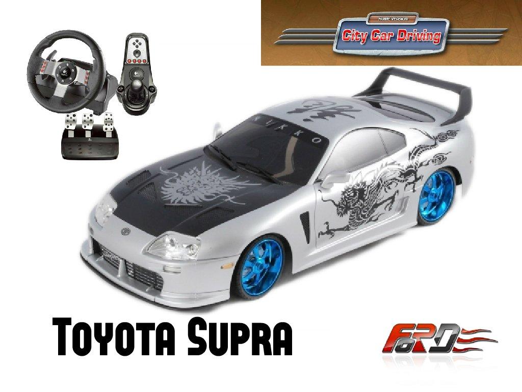 [ City Car Driving ] Toyota Supra тест-драйв, обзор автомобилей, разгон до ста Logitech G27  - Изображение 1