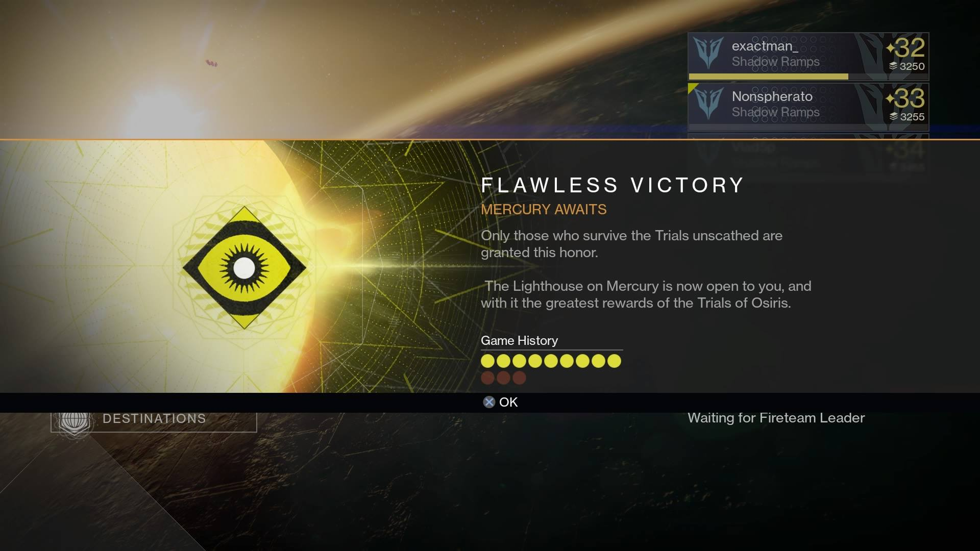 Trials of Osiris 9 побед без поражений - Изображение 1
