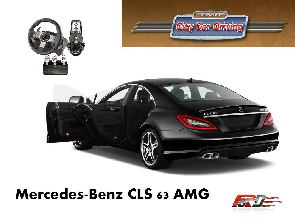 [ City Car Driving ] Mercedes-Benz CLS 63 AMG тест-драйв, обзор, эксклюзив на механике!  - Изображение 1