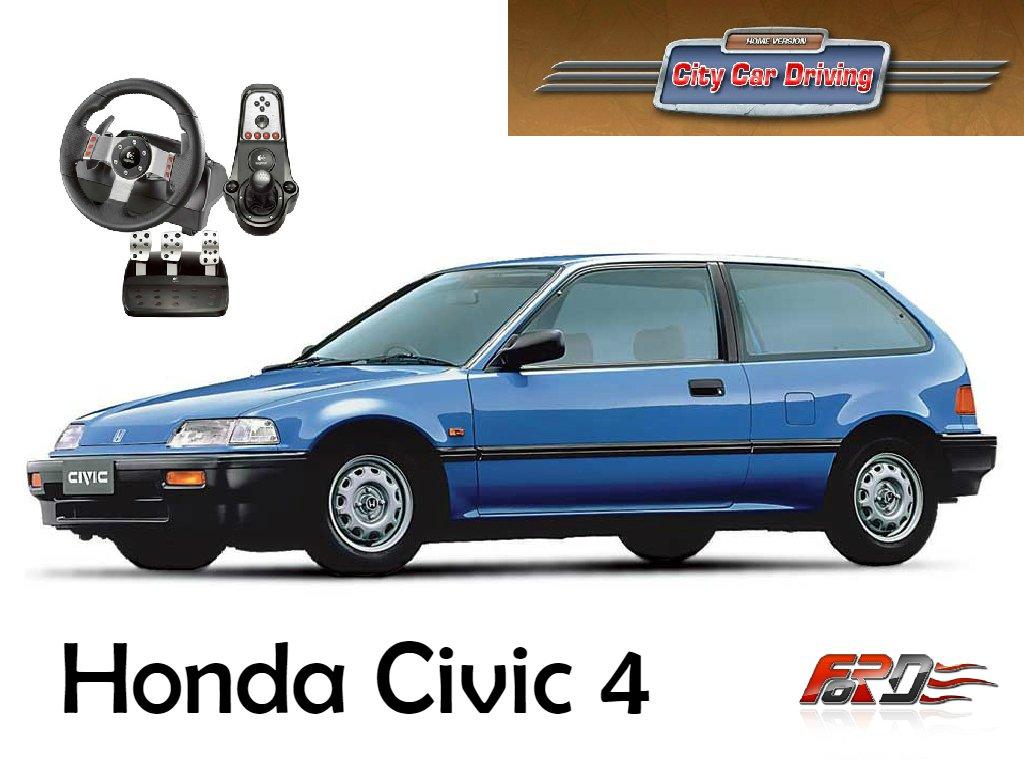 [ City Car Driving ] Honda Civic III (3) тест-драйв, обзор, разгон и динамика руль Logitech G27  - Изображение 1