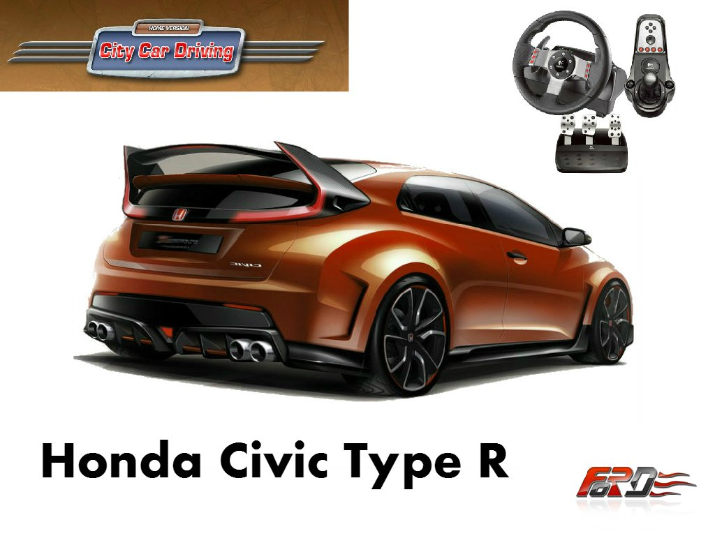 City Car Driving Honda Civic Type R тест-драйв, обзор, замеры динамики по Racelogic Logitech G27  - Изображение 1