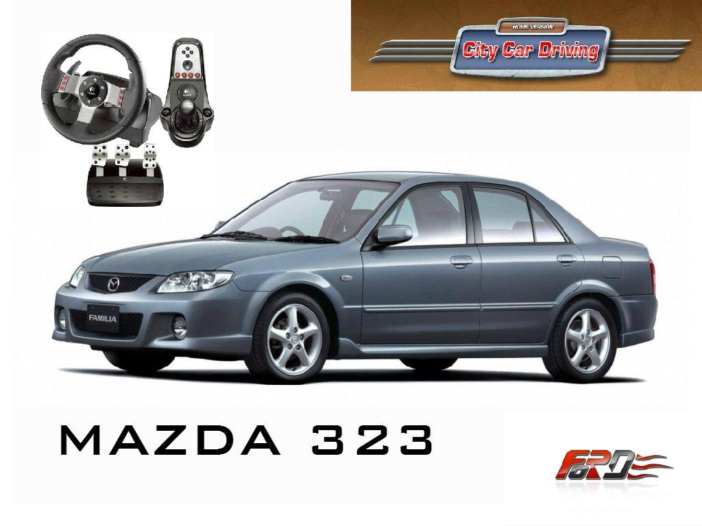 [ City Car Driving ] MAZDA 323 (Familia) тест-драйв, обзор, автомобили девяностых Logitech G27  - Изображение 1